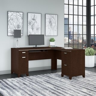 Bush Furniture Tuxedo L Shaped Desk with Storage