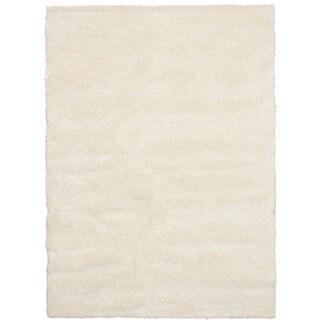 eCarpetGalley Soho Cream Polypropylene Shag 6'7 x 9'6