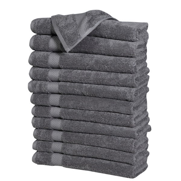 Fine Combed Cotton Hand Towels (12 Pack)