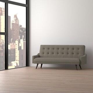 Handy Living Olney Click Clack Tobacco Brown Futon Sleeper Sofa
