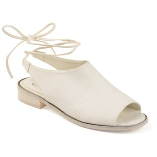 Journee Collection Women's 'Blanch' Open-toe Faux Nubuck Slingback Sandals