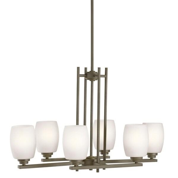 Kichler Lighting Eileen Collection 6-light Olde Bronze LED Chandelier - Olde Bronze