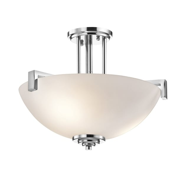Kichler Lighting Eileen Collection 3-light Chrome LED Pendant/Semi-Flush Mount