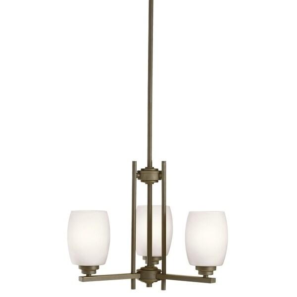 Kichler Lighting Eileen Collection 3-light Olde Bronze LED Mini Chandelier - Olde Bronze