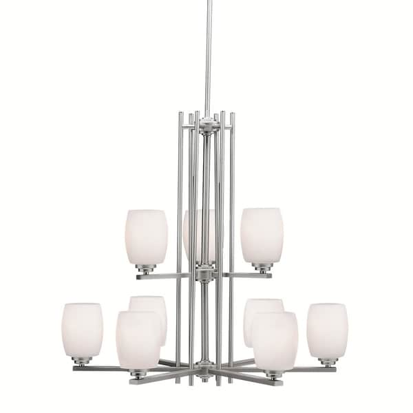 Kichler Lighting Eileen Collection 9-light Brushed Nickel LED Chandelier - Brushed nickel