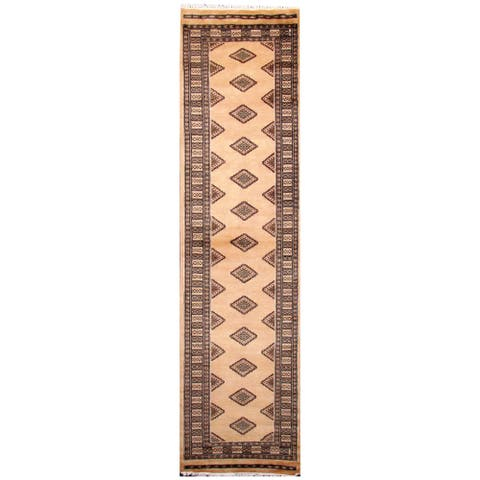 Handmade One-of-a-Kind Bokhara Wool Runner (Pakistan) - 2'6 x 10'1