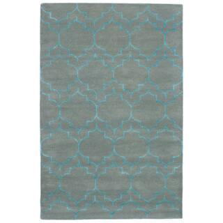 eCarpetGallery Hand-Tufted Trellis Wool Art Silk Rug - 5' x 8'
