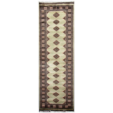 Handmade One-of-a-Kind Bokhara Wool Runner (Pakistan) - 2'6 x 7'10