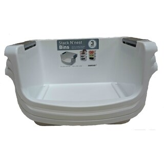 3 Pack Small Stacking Tub White