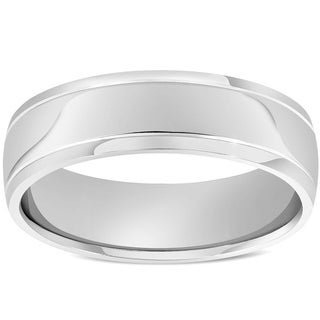Link to Pompeii3 6mm High Polished Dome Wedding Band 14K White Gold Similar Items in Rings