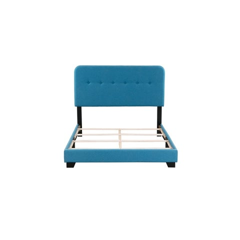 Helene Mid Century Tufted Upholstered Platform Bed In A Box