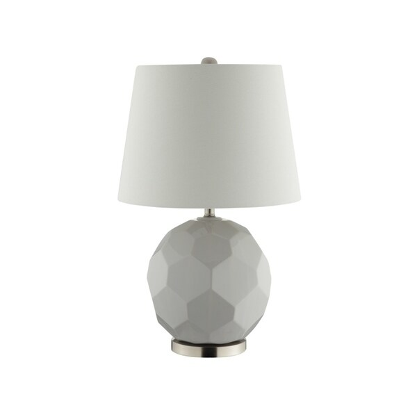 Catalina Lighting Grey Ceramic 18-inch Tango Table Lamp