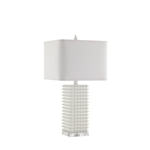 Catalina Lighting 20631-001 Manhattan Table Lamp - White - 13 x 15 x 29