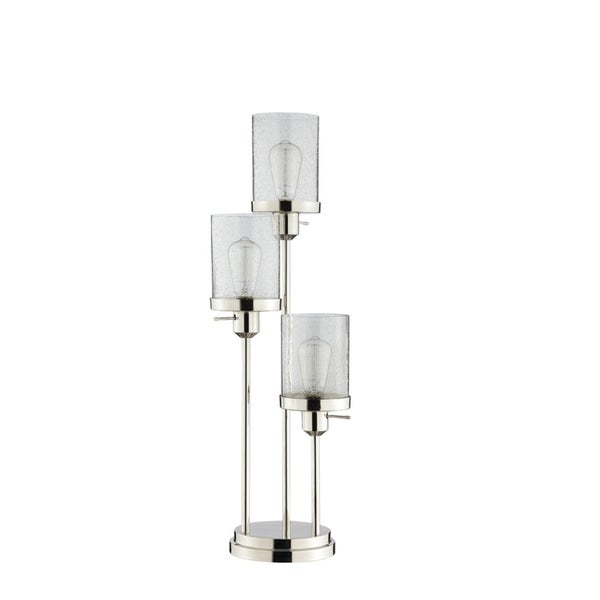 Catalina Lighting Marcella 20590-001 Polished Nickel Glass LED Buffet Lamp
