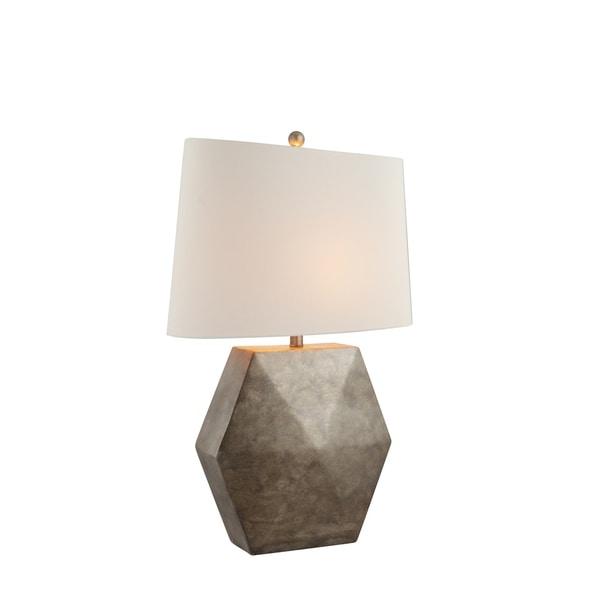 Catalina Lighting Samson Antique Grey Resin Table Lamp