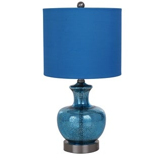 "Catalina Lighting Jordan Blue Denim Table Lamp - 10"" x 10"" x 19"""