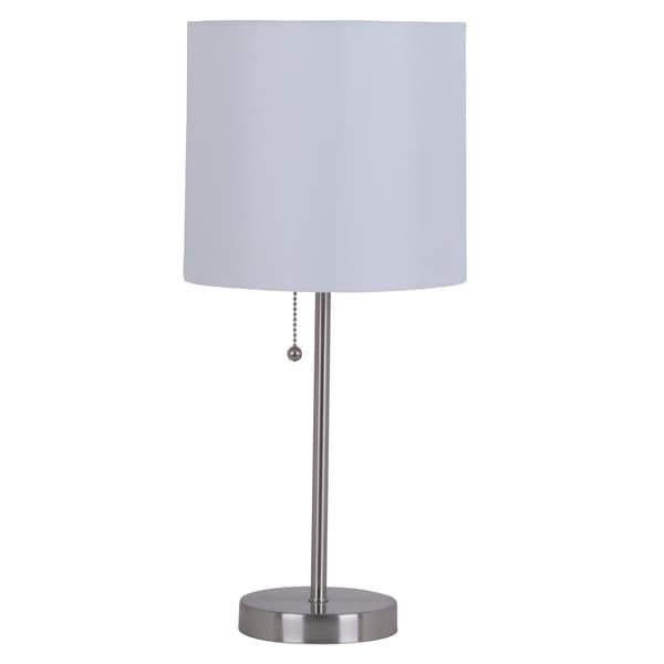 "Catalina Lighting Jayden 19-Inch Stick Table Lamp, 17842-030 Brushed steel - 8.75"" x 8.75"" x 19"""