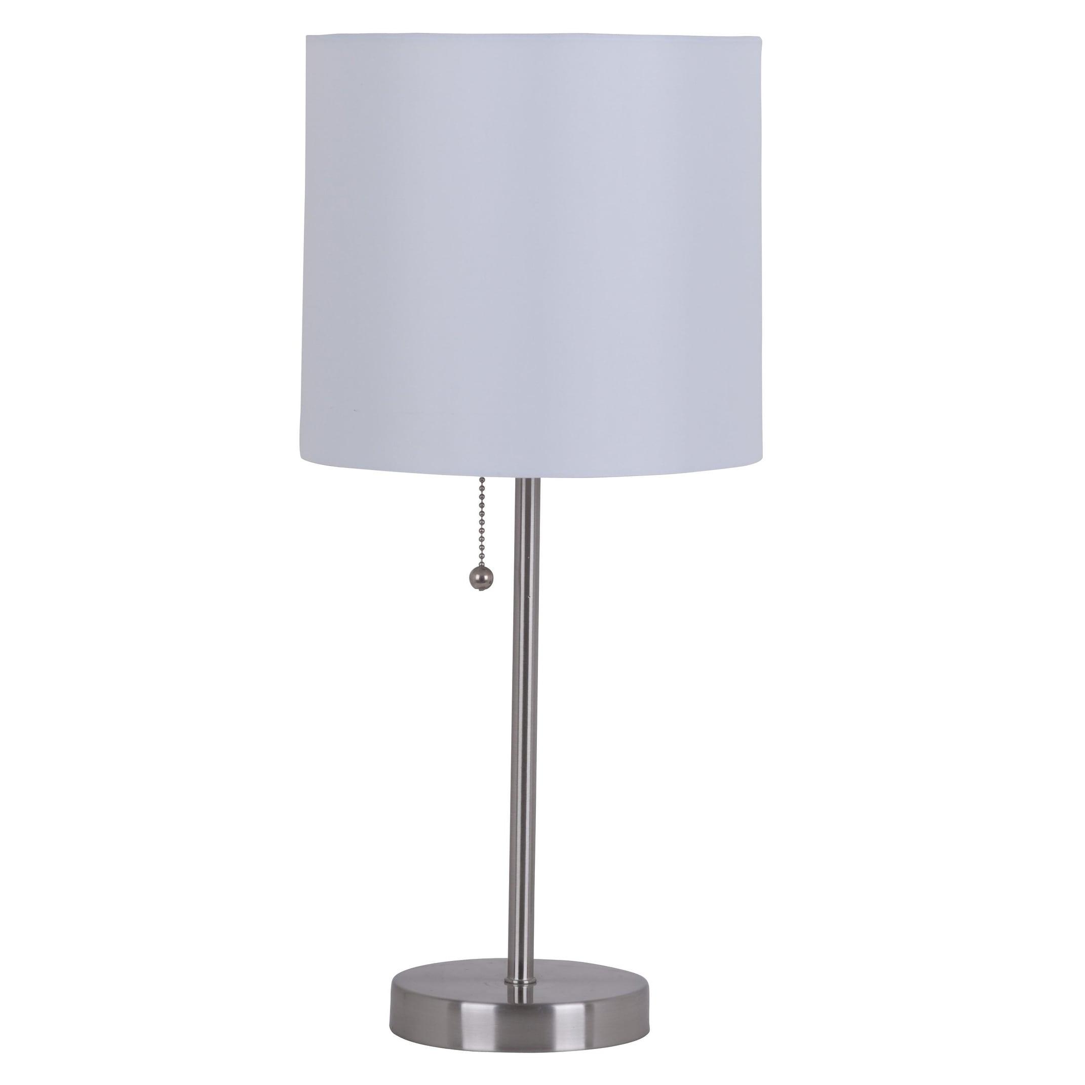 Laurel Creek Jay Brushed Steel 19-inch Stick Table Lamp