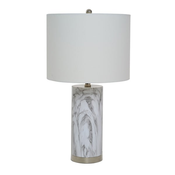 "Catalina Lighting Amalfi Faux Marble Table Lamp - 13"" x 13"" x 24.5"""