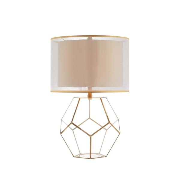 Catalina Lighting Kenzie Goldtone Glass Table Lamp