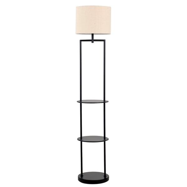 Catalina Lighting Ronita 1-Light Etagere Floor Lamp, 19651-001 Black