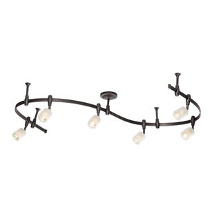 Catalina Lighting Murray 6-Light Bullet Flex Rail Track Lighting Kit, 19657-000 in Oil Rubbed Bronze