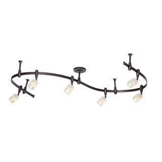 Catalina Lighting Murray 6 Light Bullet Flex Rail Track Kit 19657 000
