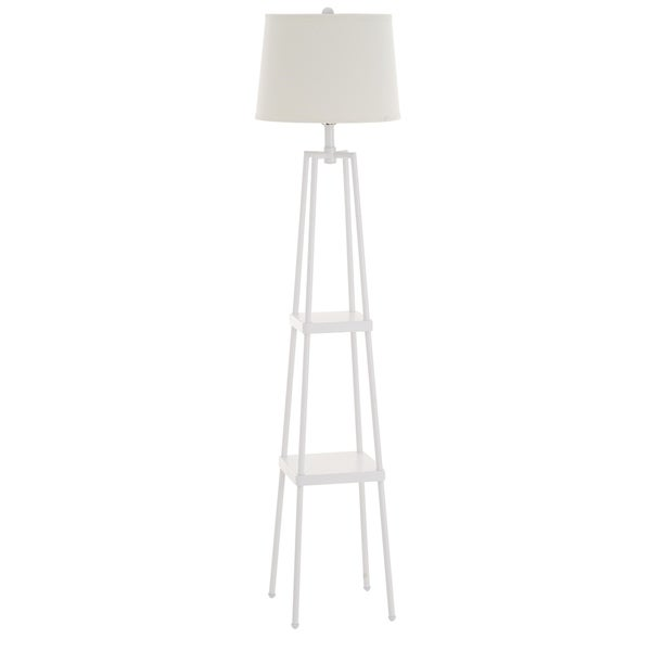Catalina Lighting 19305-001 Sawyer 3-Way Etagere Floor Lamp, White
