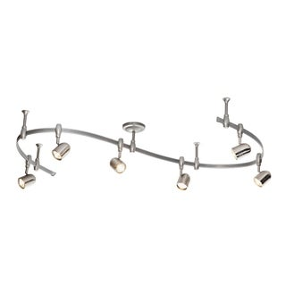 Catalina Lighting Benny 6-Light Bullet Flex Rail Track Lighting Kit, 19657-000 in Nickel
