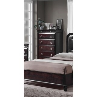 Best Master Furniture Tiffany Brown Espresso-finish Wood Contemporary 6-drawer Chest