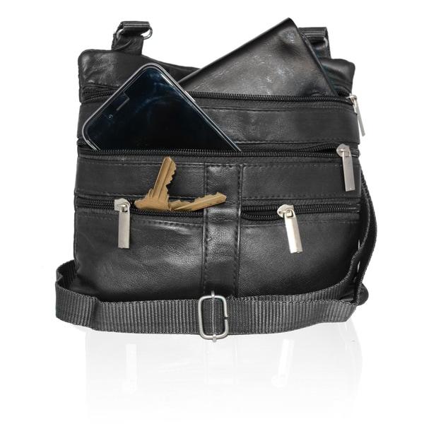 AFONiE Fashion Genuine Leather Crossbody Handbag. Opens flyout.