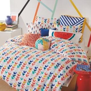 Scribble Check Mark Full/Queen 3-piece Reversible Comforter Set