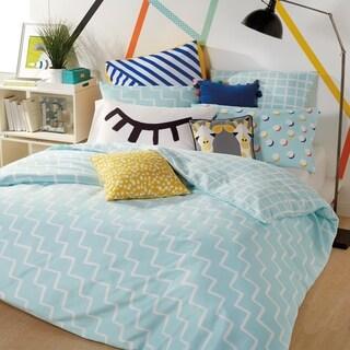 Scribble Zigzag 3-piece Reversible Comforter Set