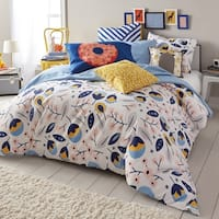 Scribble Floral Medley 3-piece Reversible Comforter Set