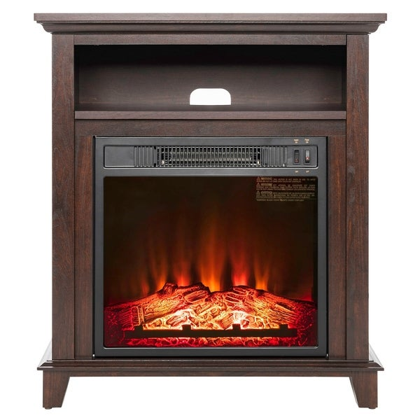 Awe Inspiring Shop Akdy Fp0093 27 Electric Fireplace Freestanding Brown Download Free Architecture Designs Griteanizatbritishbridgeorg