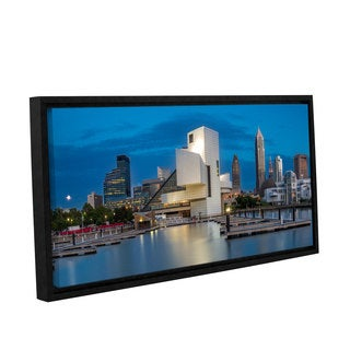 Mike Beach's ' Cleveland Rocks' Gallery Wrapped Floater-framed Canvas