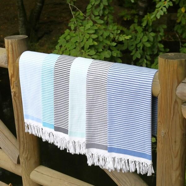 Authentic Pestemal Fouta Eva Soft Striped Turkish Cotton Bath/ Beach Towel