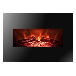 """Golden Vantage FP0063 26"""" Wall Mount Electric Fireplace 3D Flames Firebox w/ Logs Heater"""