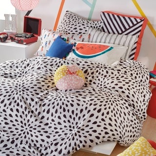 Scribble Ink Drop Full/Queen 3-piece Reversible Comforter Set