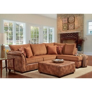 SofaTrendz Baker Two-Toned Sectional & Ottoman 2-pc Set