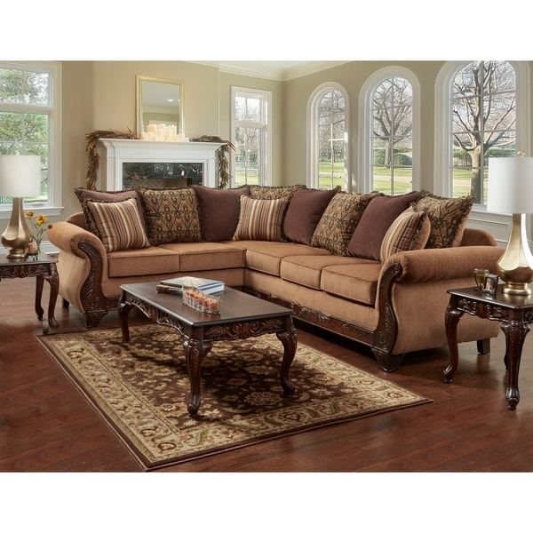 Shop Sofatrendz Belford Wood Trim Sectional Free Shipping Today