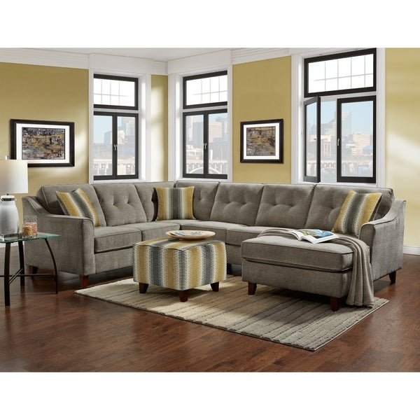 SofaTrendz Bally Gray Tufted Sectional. Opens flyout.
