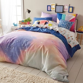 Scribble Twilight 3-piece Reversible Duvet Cover Set