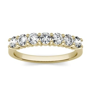 Moissanite by Charles & Colvard 14k Gold 0.70 TGW 7-Stone Band