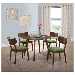 Strick & Bolton Hendricks 5-piece Dining Set with Green Chairs