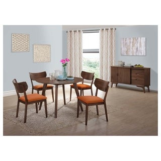 Strick & Bolton Hendricks 7-piece Dining Set with Orange Chairs