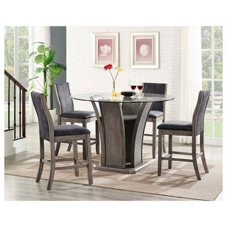 Picket House Furnishings Dylan Round Counter 5PC Dining Set-Table & 4 Side Chairs