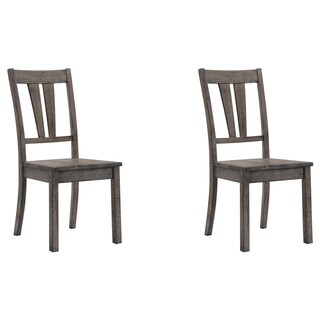 Picket House Furnishings Grayson Grey Wood Rustic Fan-backed Dining Chair (Set of 2)