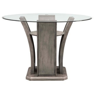 Picket House Furnishings Dylan Round Counter Dining Table - Grey