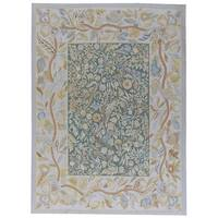 """Aubusson Ivory Hand-Woven New Zealand Wool Area Rug (9' 2"""" X 12' 5"""")"""